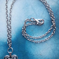 Gorgeous Filigree Heart on a Sterling Silver Necklace