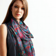 Luxurious Custom Printed Scarf - Original Design- Hearts