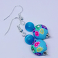 Gorgeous Floral Beaded Earrings with Sterling Silver Hooks