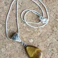 Beautiful Tigers Eye Stone Pendant