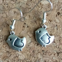 Tibetan Silver Bird  Earrings