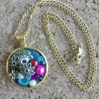 Beautiful Bejewelled Round Pendant