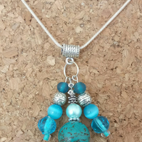 Beautiful Beaded Glass Pendant