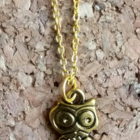 Wise Owl on a Golden Chain
