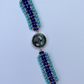 Beaded Bracelet with Resin Bezel Setting