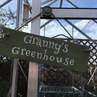 "Personalised Handcrafted Wooden Garden Sign - ""Greenhouse"""