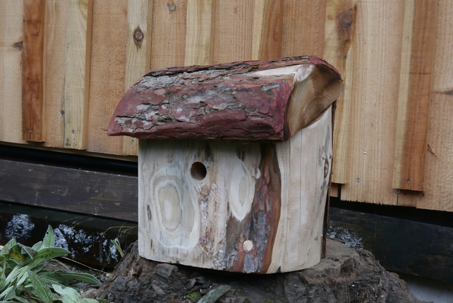 Handcarved Birdhouse