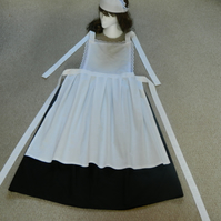 Ladies, Victorian style maids  costume, fancy dress, apron, maids hat, skirt