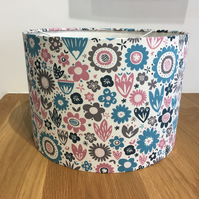 Pink and blue floral lampshade flowers ceiling or lamp base
