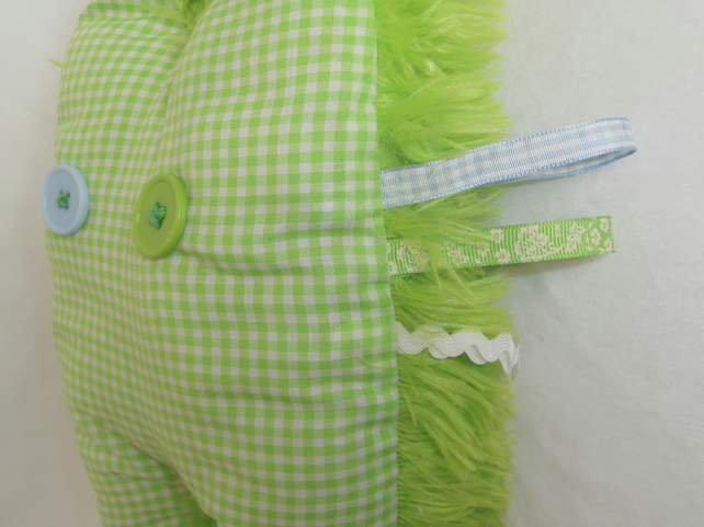 My Doudou Monster - Furry Green