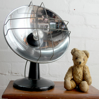 handcrafted and repurposed lamps : vintage silver disk space heater