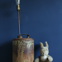 handcrafted and repurposed lamps : vintage tall oil can lamp