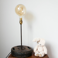 Handcrafted And Repurposed Lamps : Industrial Boat Pully Lamp