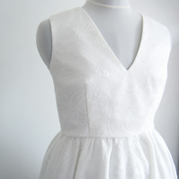 Handmade V neck Full Circle Dress Available in UK Size 12 Only.