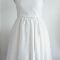 Handmade Halter neck lace dress with full circle skirt Available in UK size 12