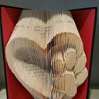 Heart With Paw Print Book Fold