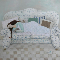 A Place To Lay Your Head, giclée print of original mixed media artwork