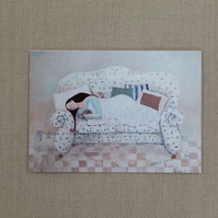 A Place To Lay Your Head, art card, greetings card, get well soon card