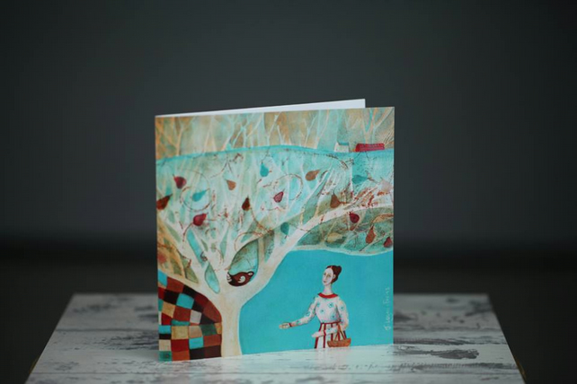 Set of 2 art cards, The Pear Tree & A Bird in the Hand