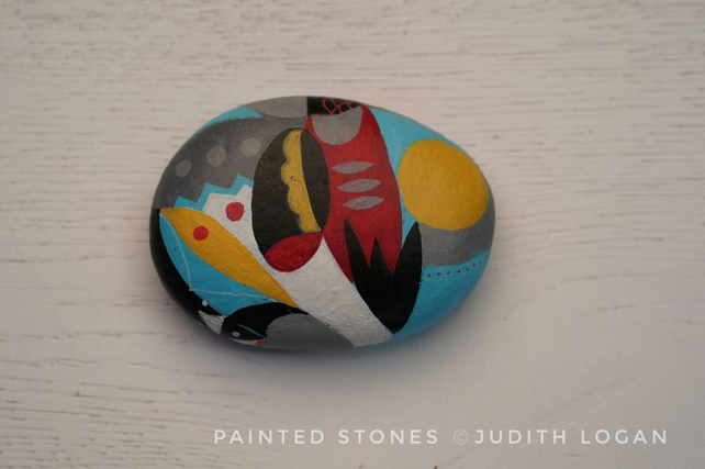 Painted Stone, abstract art, original art
