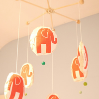 Organic Cotton Elephant Baby Mobile