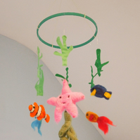 Unique Needle-felt Sea Baby Mobile FREE POSTAGE