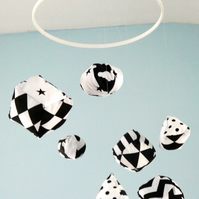 Black and White Geometric Mobile FREE POSTAGE