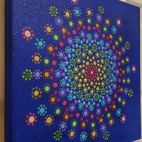 Cosmic Chakra Flower Mandala Box Canvas