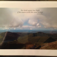 Greeting Card - View from Snowdon, including quote