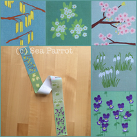 Spring flower fabric - MINI