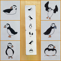 MINI Puffin fabric - 6 original designs