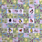 Mini Spring Garden Fabric Kit - Birds and Flowers