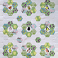 Spring Garden Fabrics, Birds and Flowers - Makes 9 hexie flowers