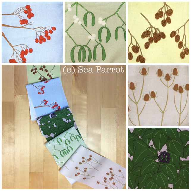 Winter hedgerow plant fabric strip