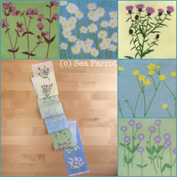 Summer Meadow plant fabric strip