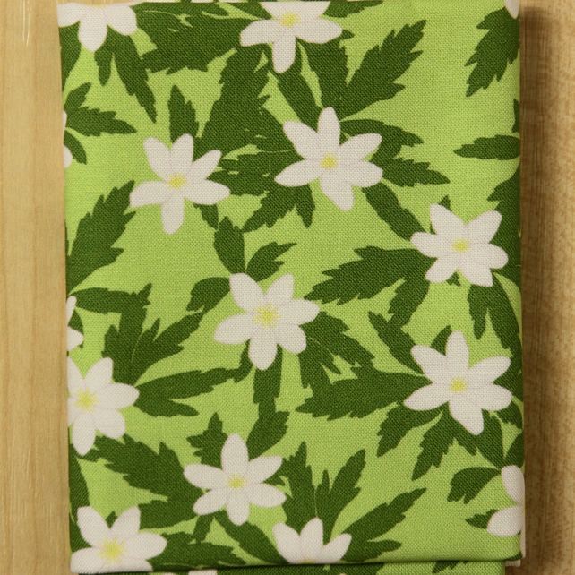 Wood anemone spring flower fabric fat quarter