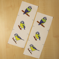 Blue tit fabric strips