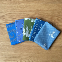 At Sea  fabric collection - 5 fat quarters