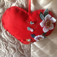 Folk Art style Red Felt Heart hanging decoration. Valentine's???
