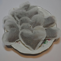 Heart shaped Peppermint Teabags