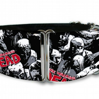 "Martingale dog collar in walking dear zombie spooky 1.5"" OR 2"""