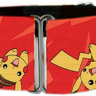 "Martingale dog collar in Pokemon Go! red Pikachu 1.5"" OR 2"""