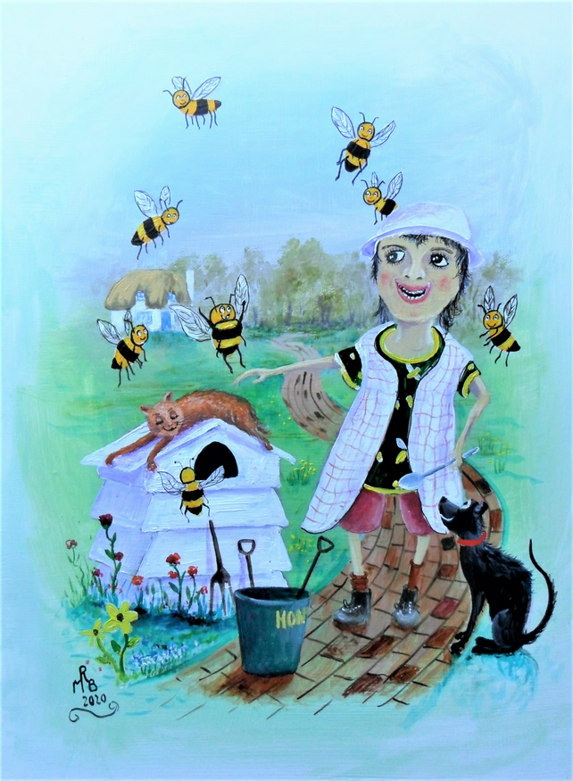 The Bee Lady A4 PRINT
