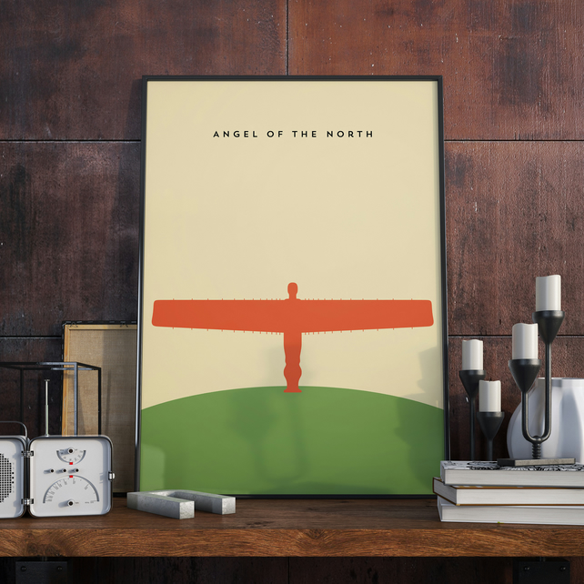 A3 Angel of the North, Print. Poster.