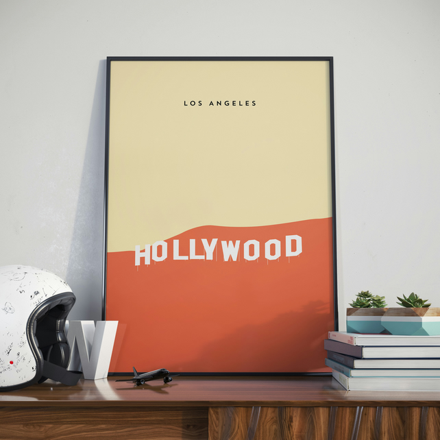 A3 Hollywood, Print. Poster.