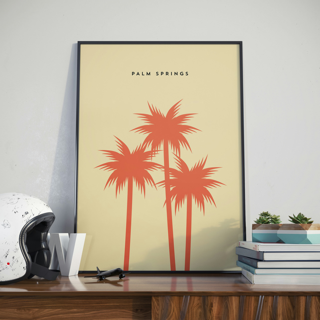 A3 Palm Springs, Print. Poster.