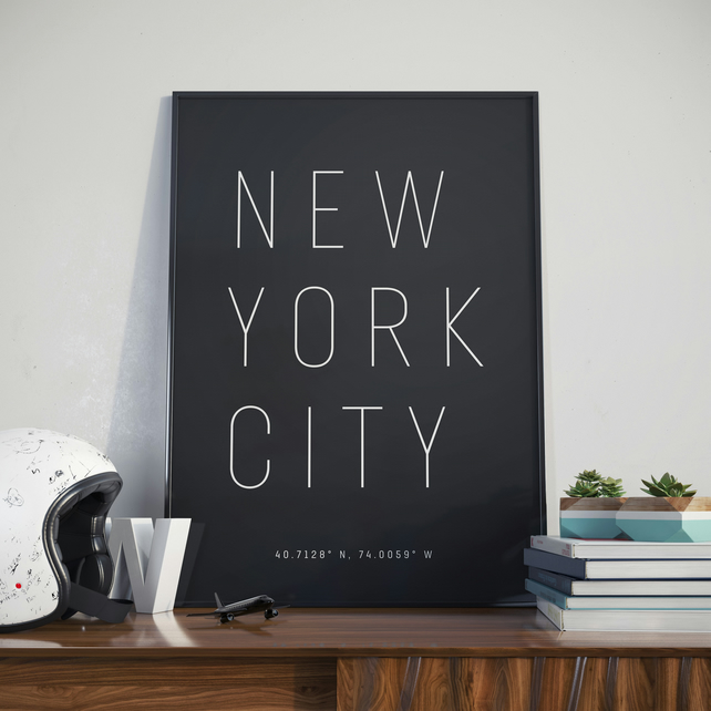 A3 New York City, Print. Poster.