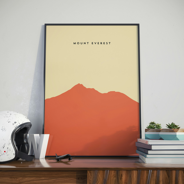 A3 Mount Everest, Print. Poster.