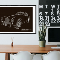 Aston Martin - Digital Hand Drawn Illustration A2 Size