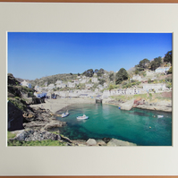Polperro A4 Mounted Print